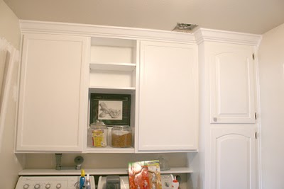 Organized Laundry Room Cabinets And Shelving