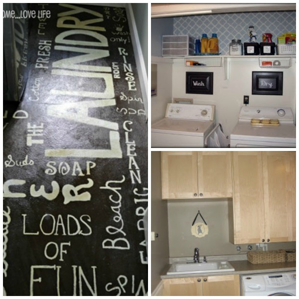 beautiful and organized laundry room updates