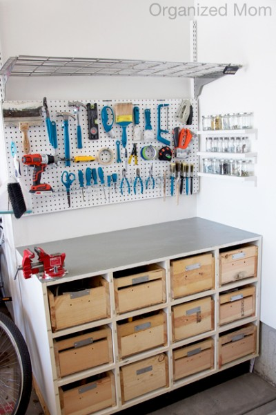 organized garage and painted tools, Organized Mom