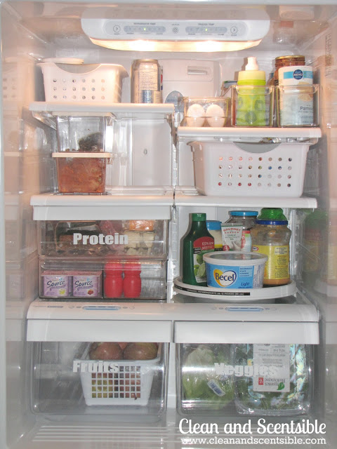 organized fridge ideas
