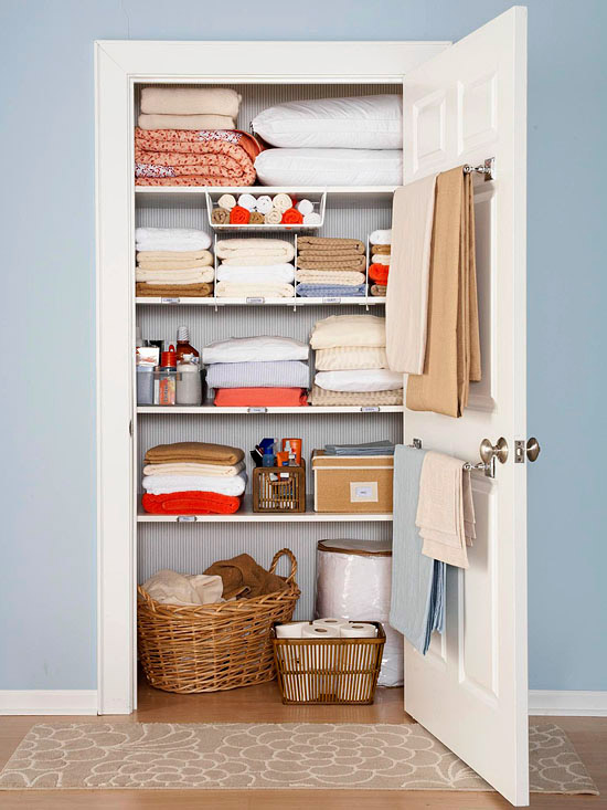 home Organization ideas linen closet