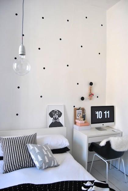 ploka dot wall