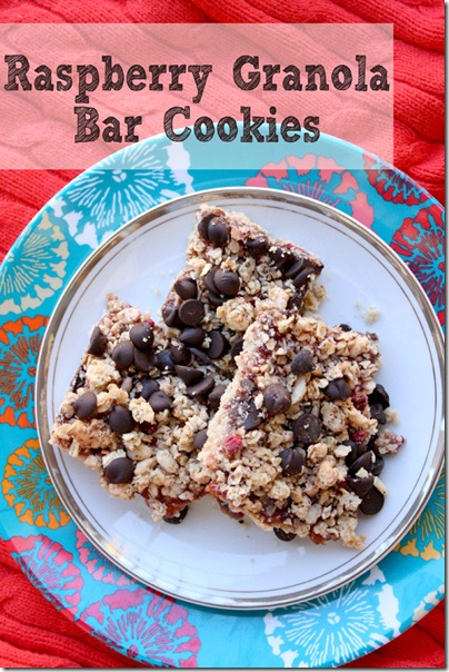 raspberry granola bar cookies