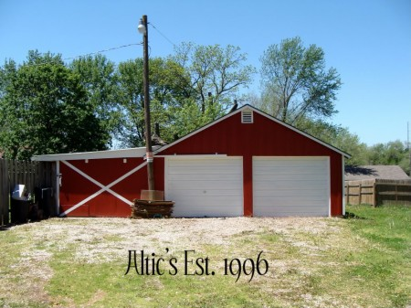 repainted wooden barn garage, Altic Quiver on Remodelaholic