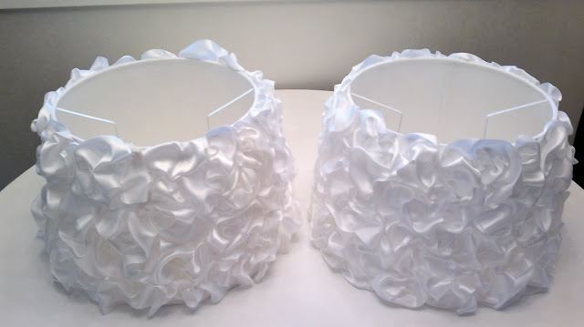 diy ruffled ribbon lamp shade