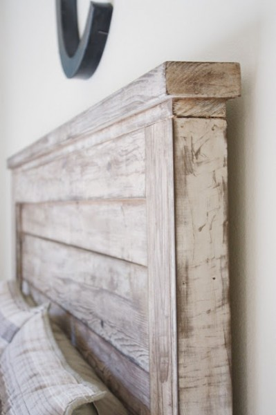 build a rustic headboard, Being Brooke