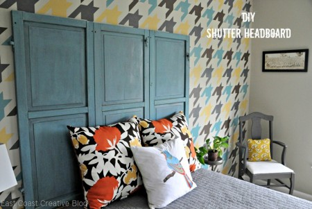 make a shutter headboard, East Coast Creative