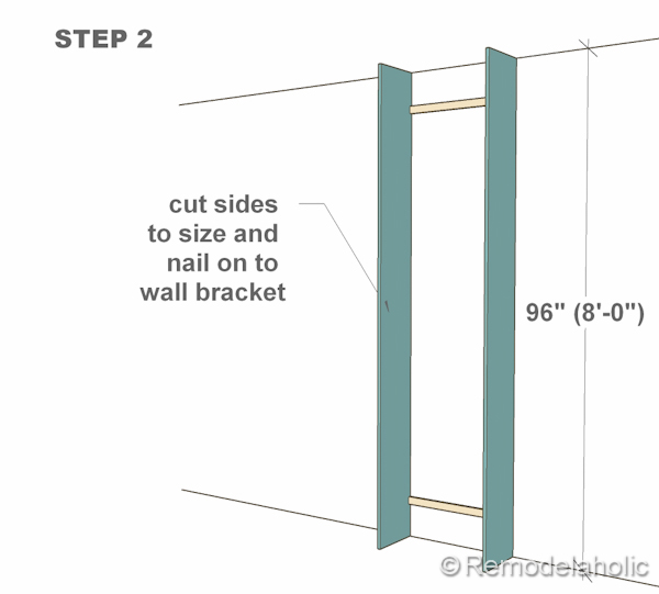 step 2 bult-in bookshelves