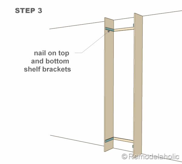 step 3 bult-in bookshelves