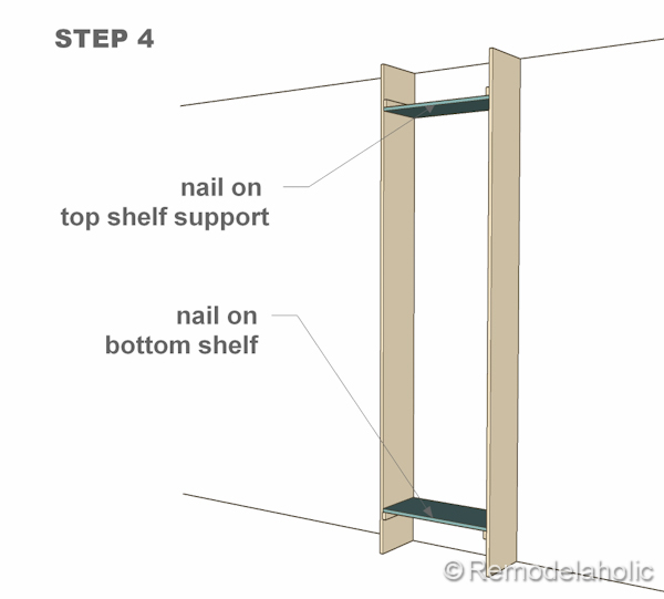 step 4 bult-in bookshelves