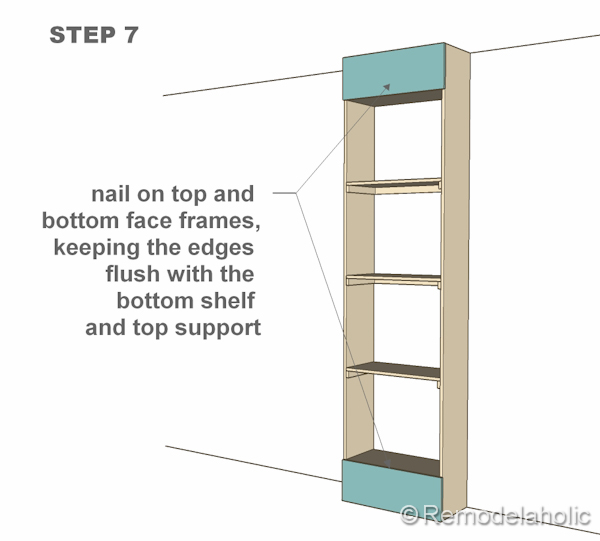 step 7 bult-in bookshelves
