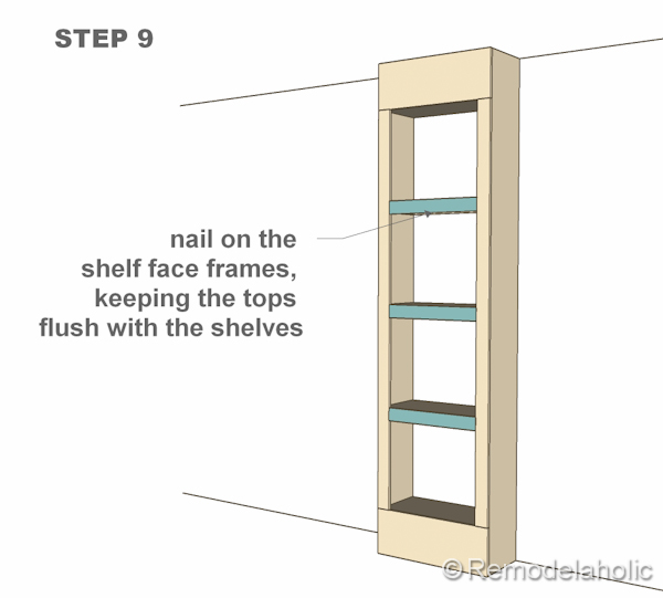 step 9 bult-in bookshelves