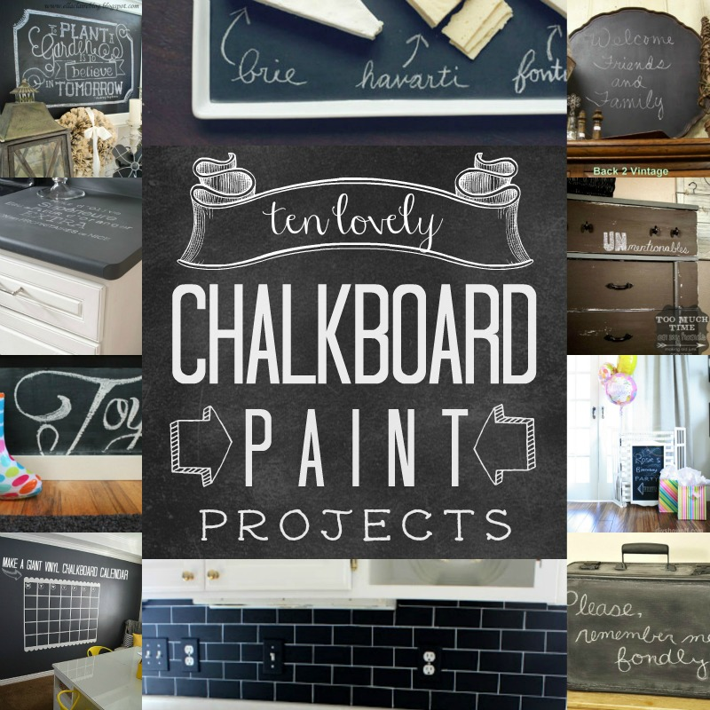 Remodelaholic Top Ten Chalkboard Paint Projects and Link  : top ten chalkboard paint ideas1 from www.remodelaholic.com size 800 x 800 jpeg 196kB