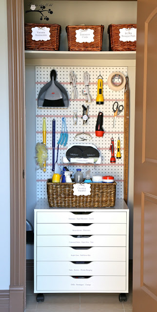 Lookie What I Did, organized utility closet
