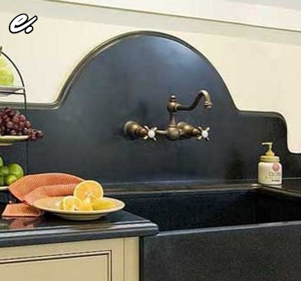 Carla Aston Designed curvy backsplash