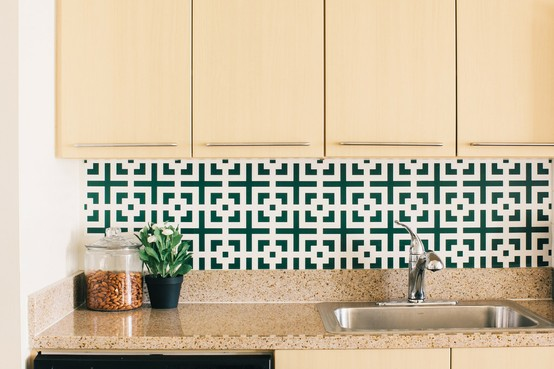 Kitchen Backsplash Vinyl Wallpaper remodelaholic | 25+ great kitchen backsplash ideas