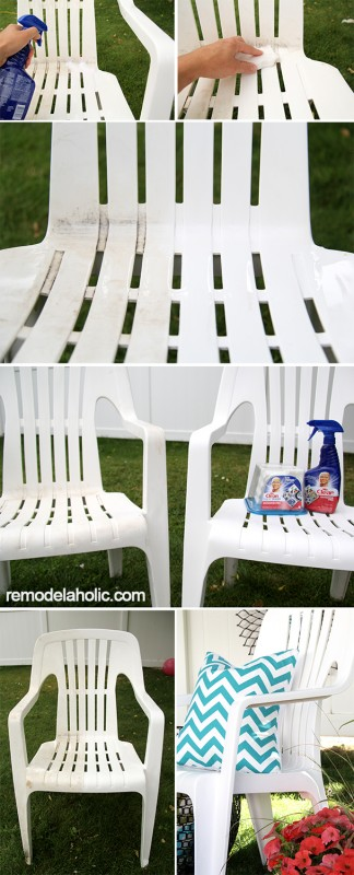 Cleaning the chair collage