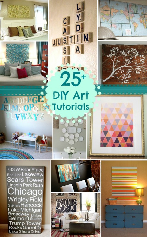 25+ DIY Art Tutorials | @Remodelaholic #art #decor #diy #home Remodelaholic.com