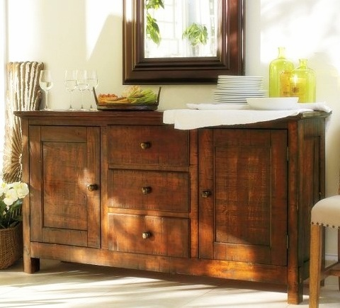 Remodelaholic how to decorate a buffet for Dining room buffet