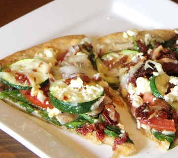 Bacon and Veggie Pizza Recipe