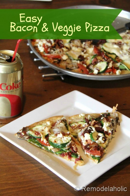 Easy Veggie Pizza Recipe Remodelaholic2