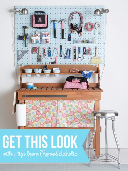 Get This Look - Pretty and Tidy Workbench | remodelaholic.com