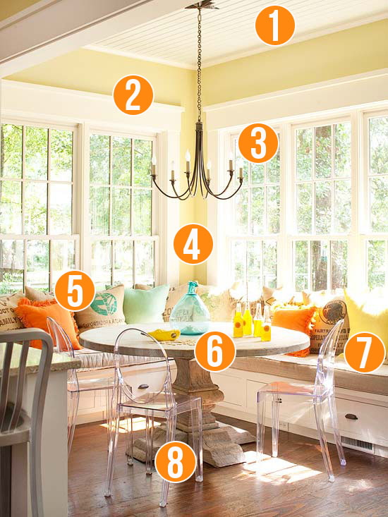 Get This Look - Sunny Corner Banquette - 8 tips from Remodelaholic