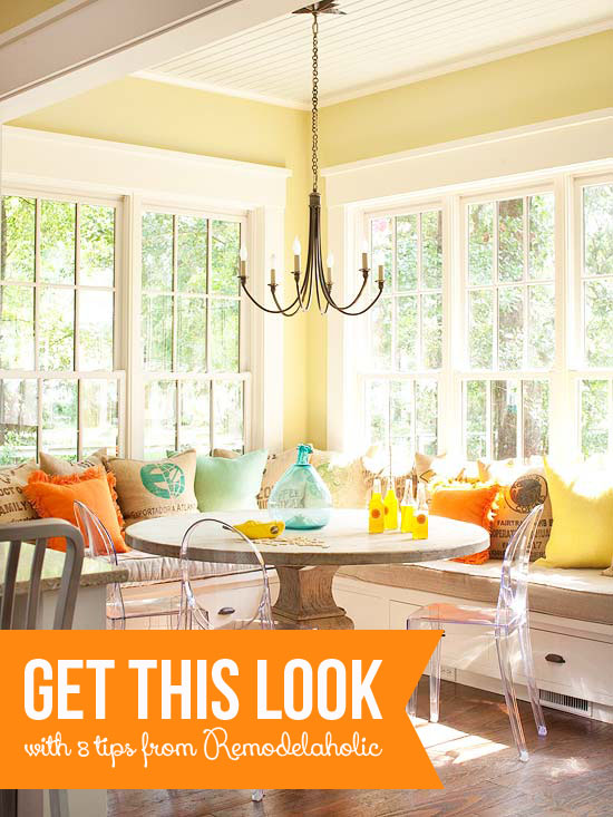 Get This Look Sunny Corner Banquette
