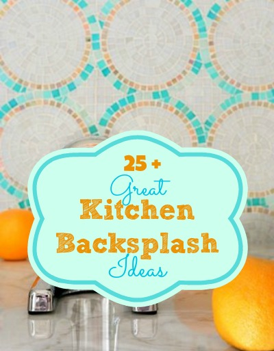 25+ Great Kitchen Backsplash Ideas | @Remodelaholic #kitchen #design #remodel #backsplash Remodelaholic.com