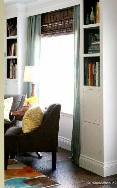 built-in bookcase tutorial, Remodelaholic