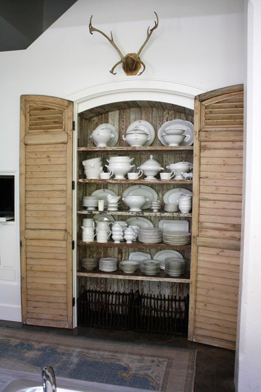 Pantry doors using louvered shutters