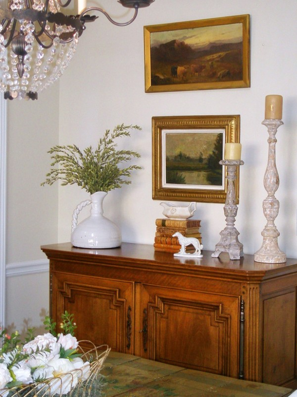 Dining Room Buffet Table Decorating Ideas Part - 19: Great Scaled Buffet Decor. RMS_LuLuD-antique-french-dining-room -buffet_s3x4_lg
