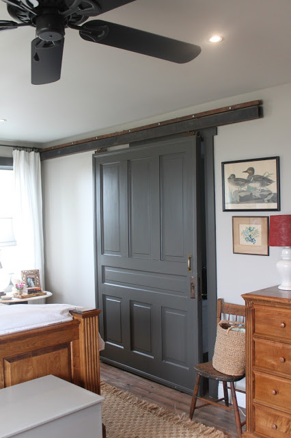 Sliding Barn door from old entry door