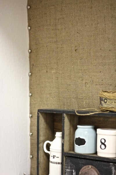 burlap backsplash - Will Craft 4 Food