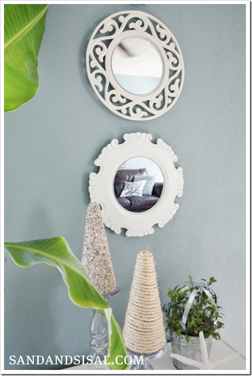 easy diy mirrors from charger plates