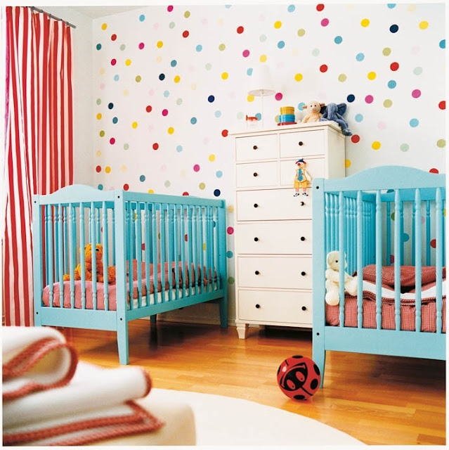 confetti walls polka dot walls