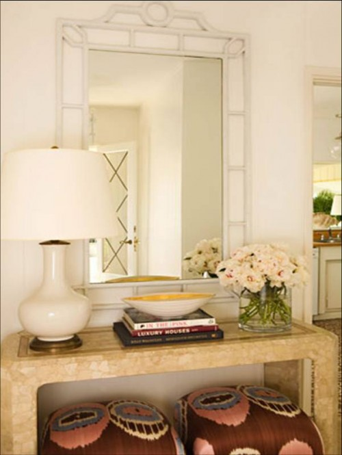 Remodelaholic how to decorate a buffet for Console table decor ideas