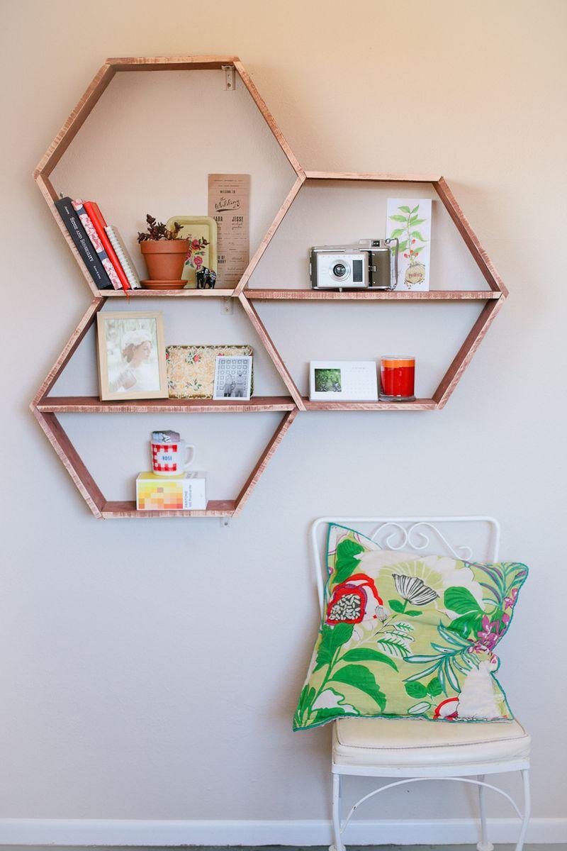 Popular diy honeyb wall shelves A Beautiful Mess