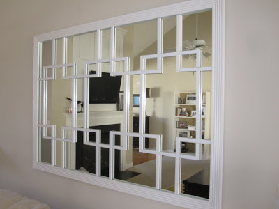 diy trellis mirror