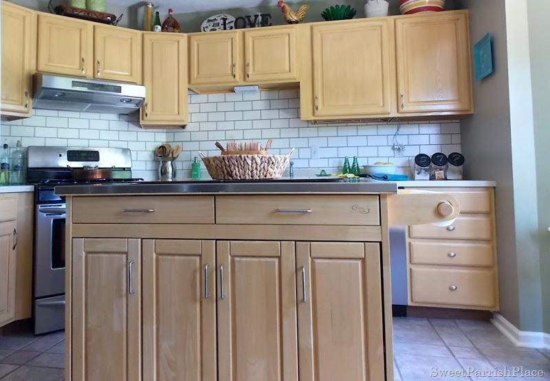 Painted Backsplash Ideas painted subway tile backsplash | remodelaholic