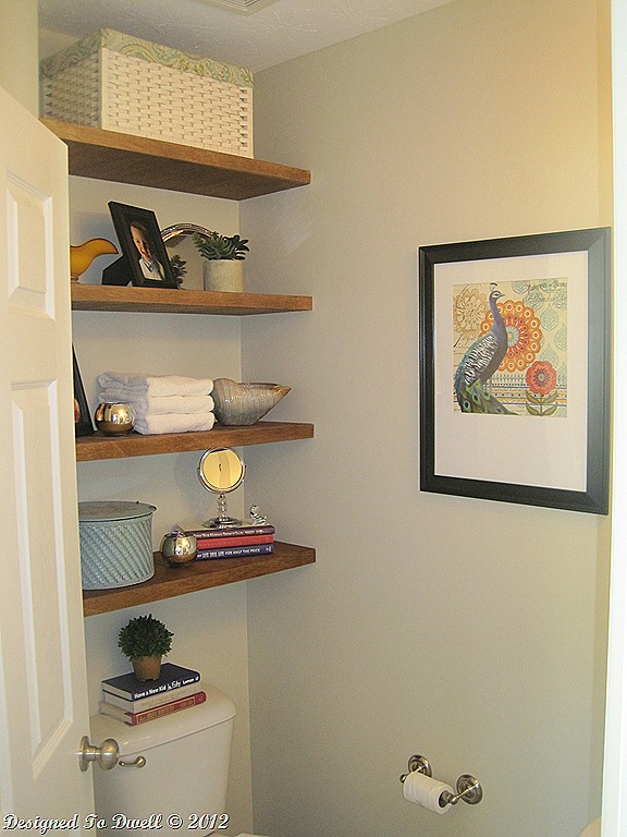25 great diy shelving ideas construction haven home - Floating shelf ideas for bathroom ...