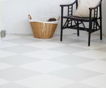 how to paint a concrete floor tutorial