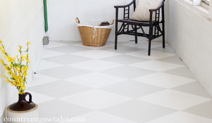 How to paint a concrete floor remodelaholic for How to paint concrete floors