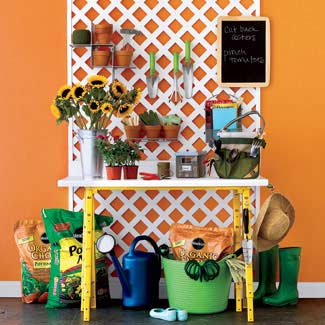 lattice gardening workbench, Good Housekeeping