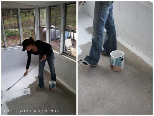paint a concrete floor