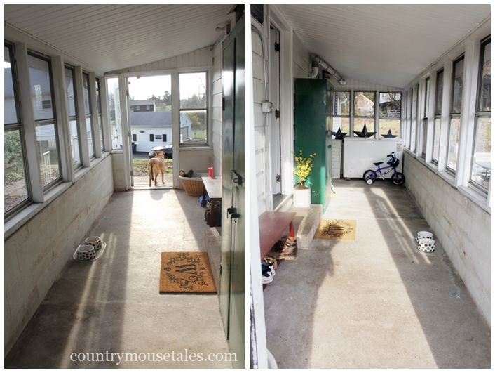 How to paint a concrete floor remodelaholic for Mudroom floors