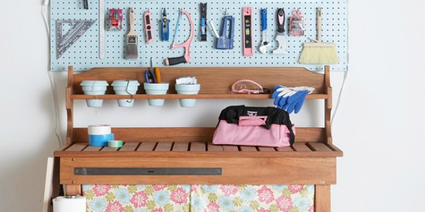 pretty and tidy workbench - get this look