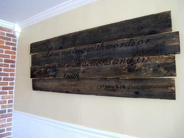 ustic wood burn DIY art turorial