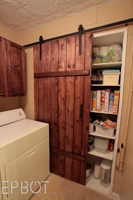 sliding barn door over pantry