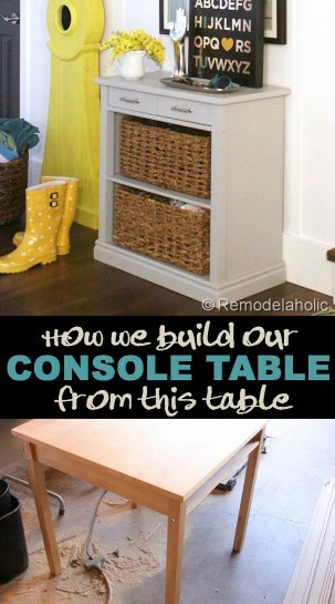 build a storage console table